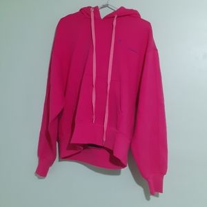 Urban Outfit- Pink HEAVYWEIGHT Double Hood Sweater